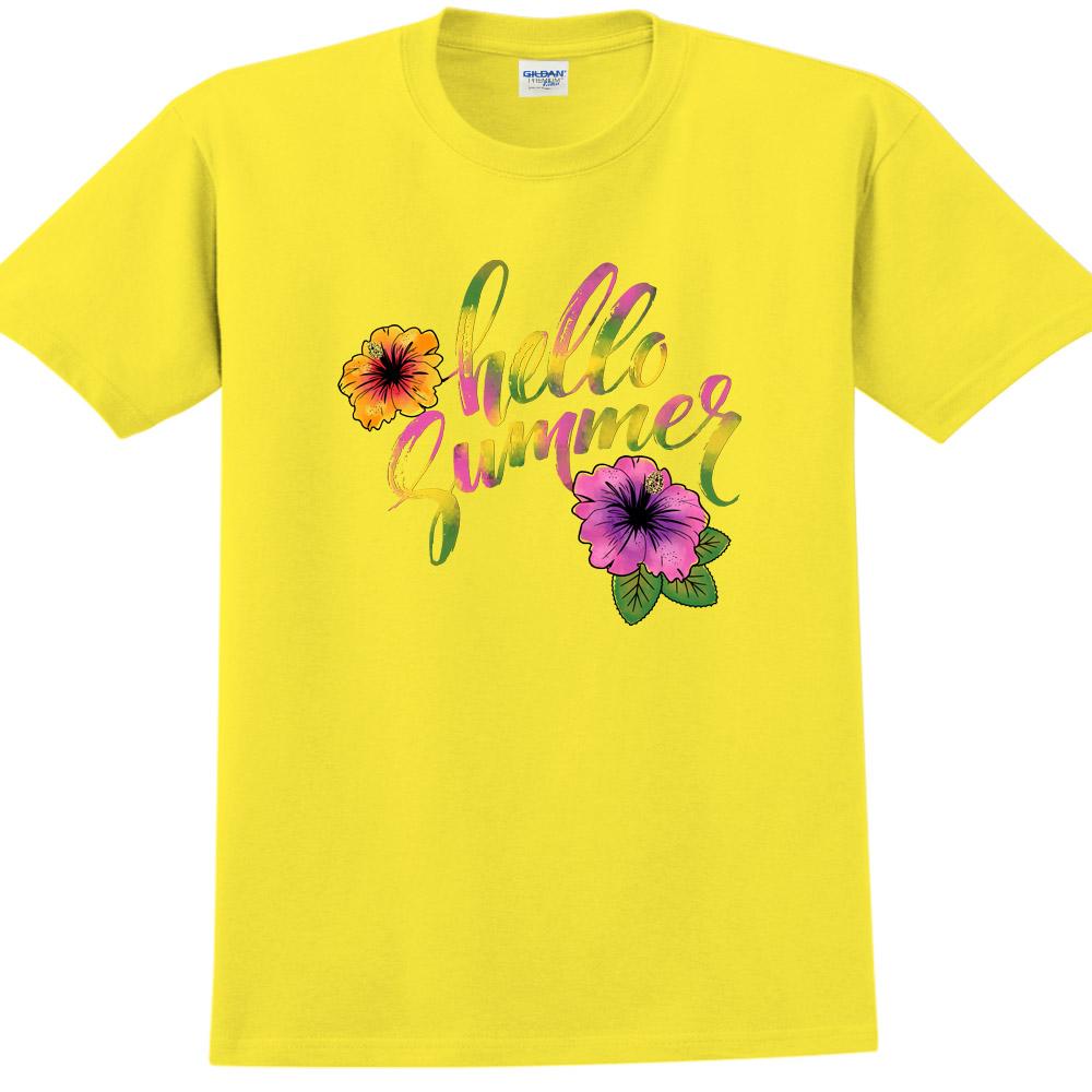 YOSHI850 新創設計師850 Collections【Hello Summer】短袖成人T-shirt (黃)