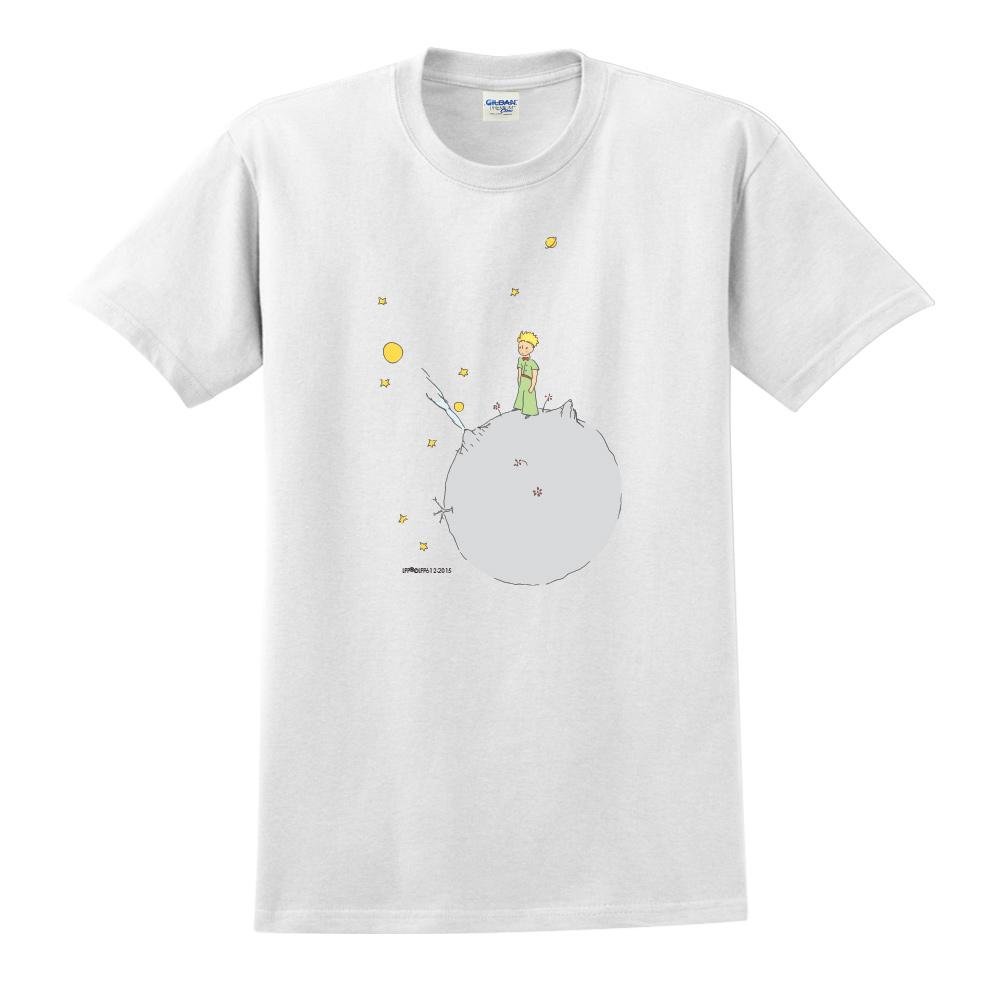 YOSHI850|小王子經典版授權【另一個星球】短袖修身T-shirt《白色》