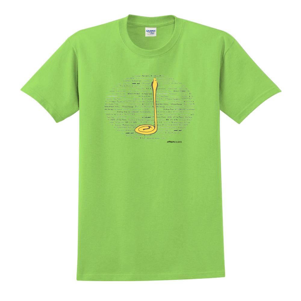 YOSHI850|小王子經典版授權【沙漠中的黃蛇】短袖中性T-shirt (果綠)