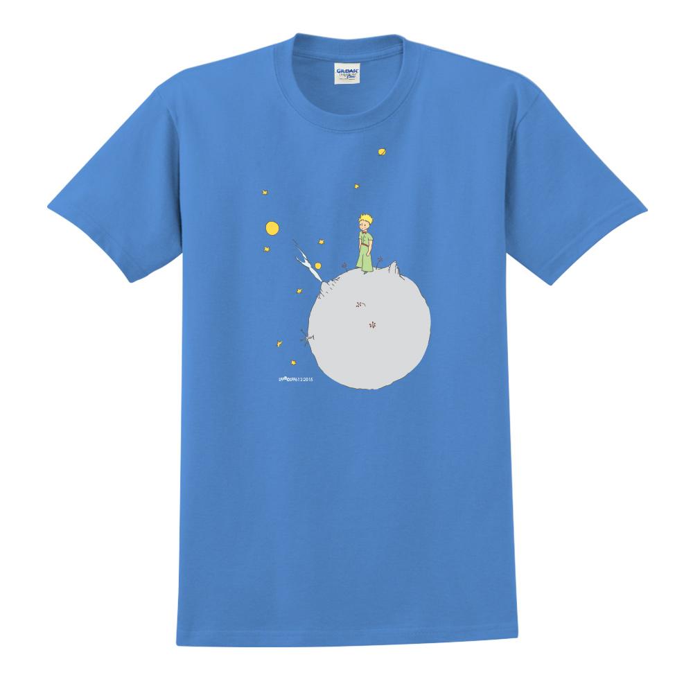 YOSHI850|小王子經典版授權【另一個星球】短袖中性T-shirt (寶石藍)