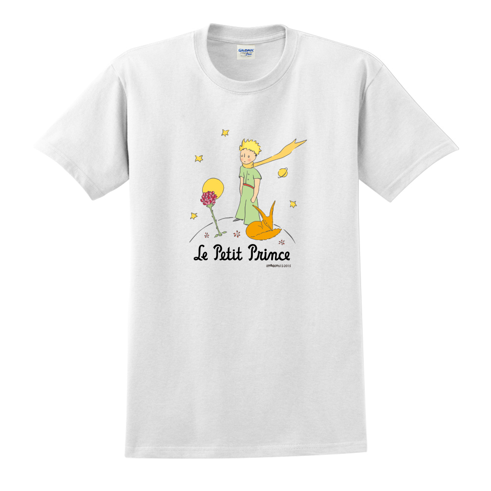 YOSHI850|小王子經典版授權【狐狸的秘密禮物】短袖中性T-shirt (白)