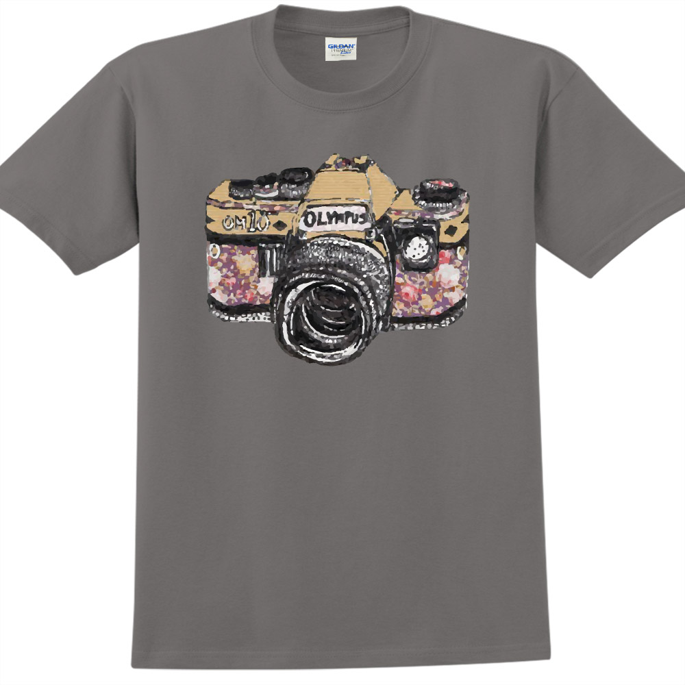 YOSHI850|新創設計師850 Collections【Camara】短袖成人T-shirt (深灰)