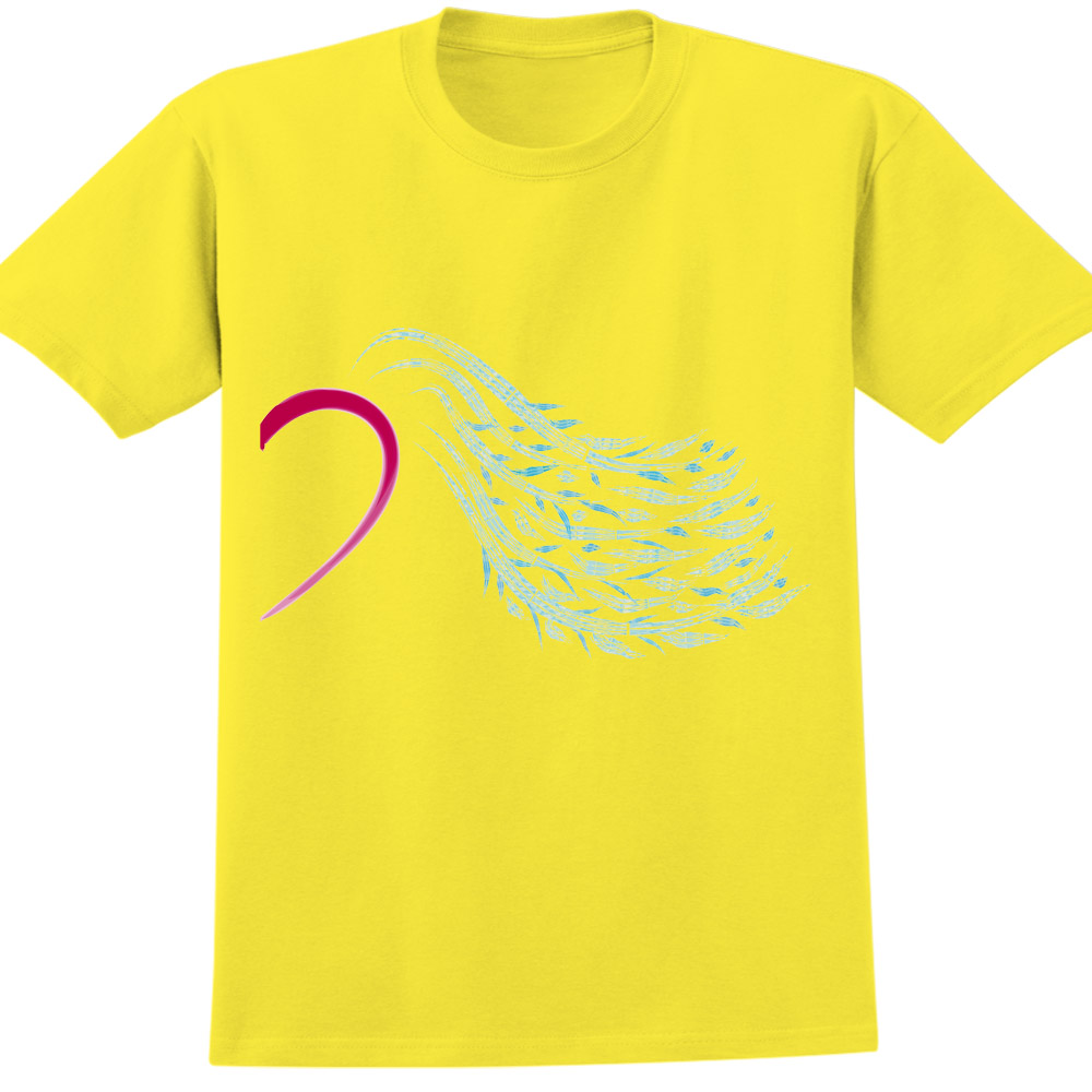 YOSHI850 新創設計師850 Collections【Family(Mama)】短袖成人T-shirt (黃)