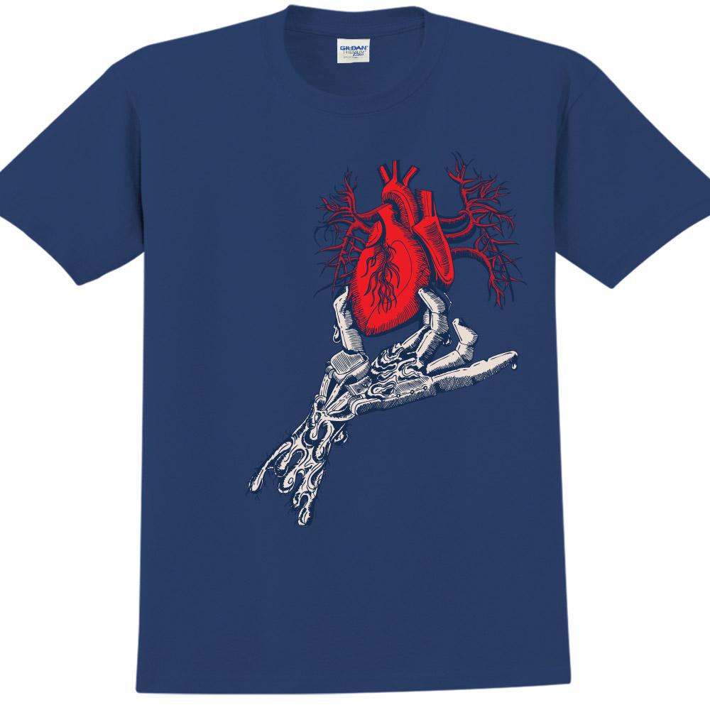 YOSHI850|新創設計師850 Collections【揪心】短袖成人T-shirt (藏青)