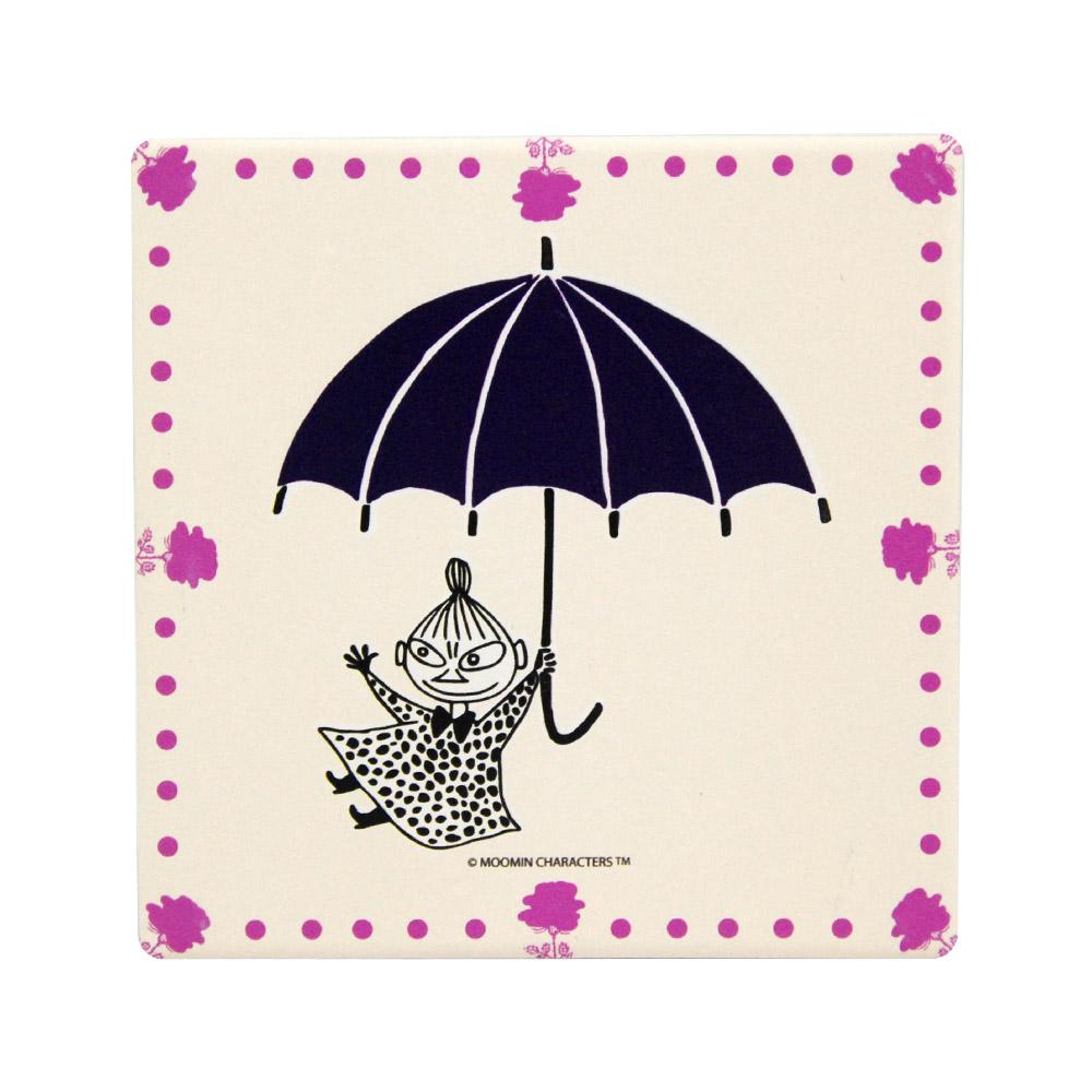 YOSHI850|Moomin嚕嚕米正版授權:吸水杯墊【小紫傘】(方.圓)