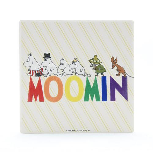 YOSHI850|Moomin嚕嚕米正版授權:吸水杯墊【Happy Family】(方.圓)