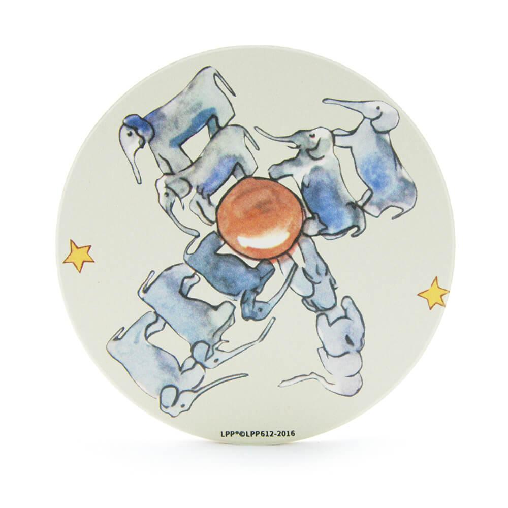 YOSHI850|經典小王子正版授權:吸水杯墊【大象星球】(方.圓)