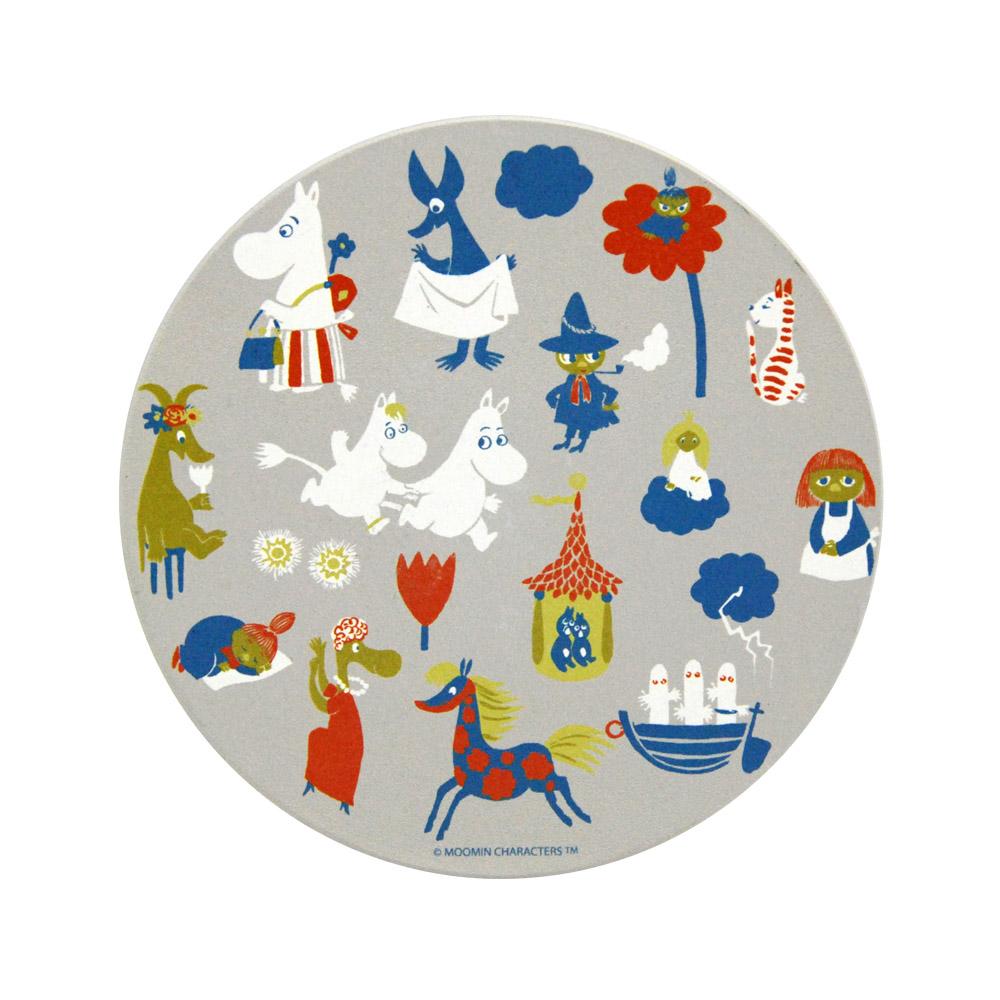 YOSHI850|Moomin嚕嚕米正版授權:吸水杯墊【歡樂市集】(方.圓)