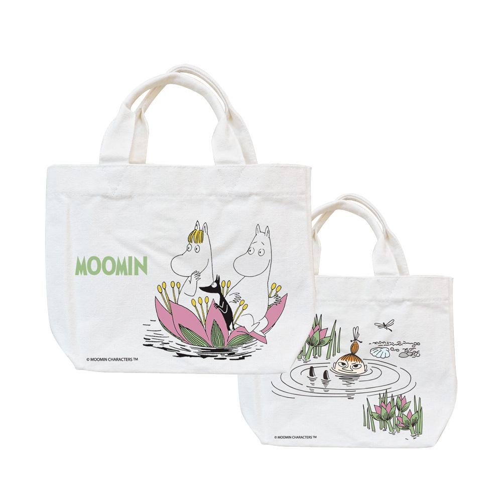 YOSHI850|Moomin嚕嚕米正版授權:小托特包【蓮花池邊的嬉戲】