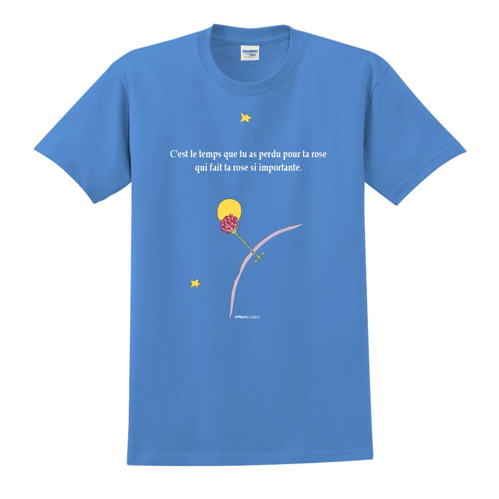 YOSHI850|小王子經典版授權【專屬愛情】短袖中性T-shirt (寶石藍)
