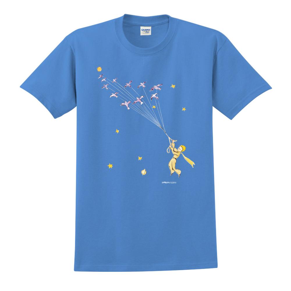 YOSHI850 小王子經典版授權【帶我去旅行】短袖中性T-shirt (寶石藍)