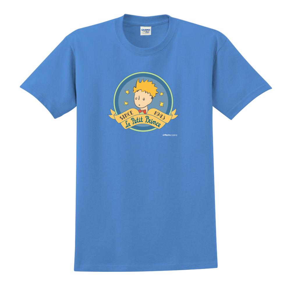 YOSHI850|小王子經典版授權【跟你說聲Hi】短袖中性T-shirt (寶石藍)