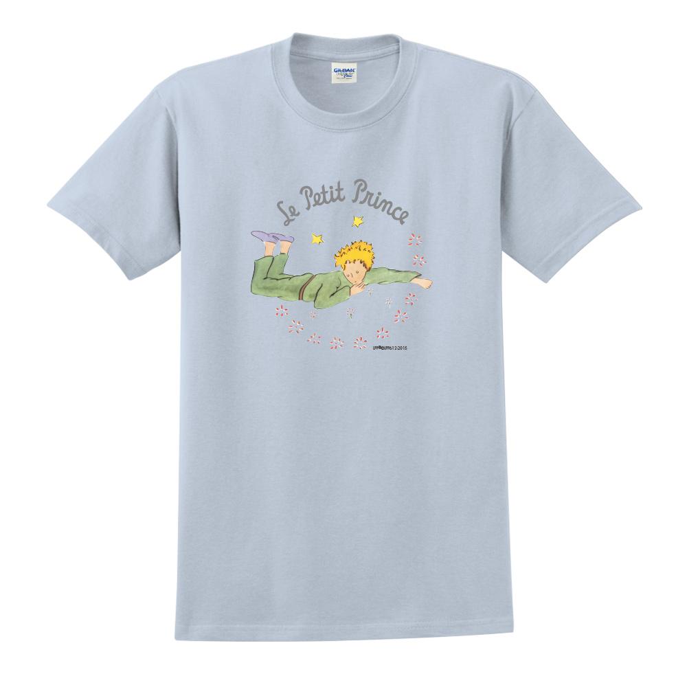 YOSHI850|小王子經典版授權【哭泣的小王子】短袖中性T-shirt (水藍)