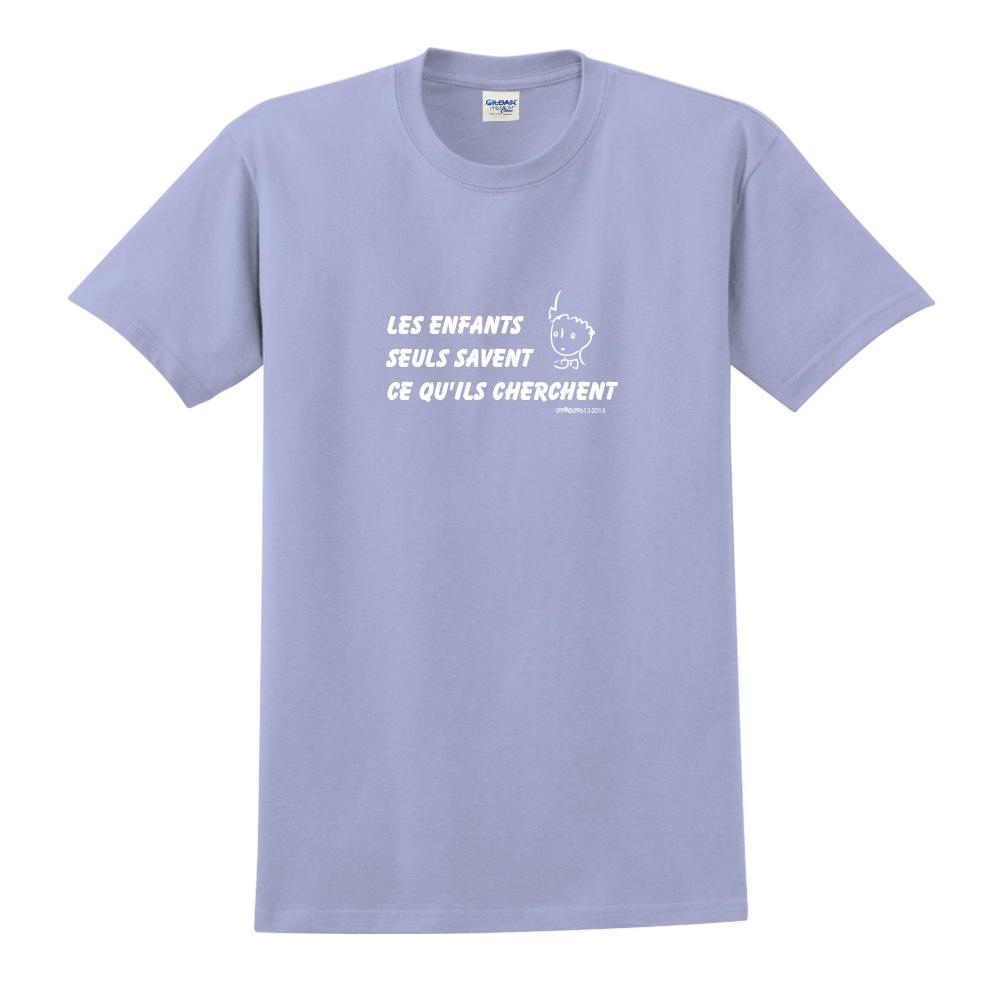 YOSHI850|小王子經典版授權【只有小孩子知道他們在找甚麼】短袖中性T-shirt (卡藍)