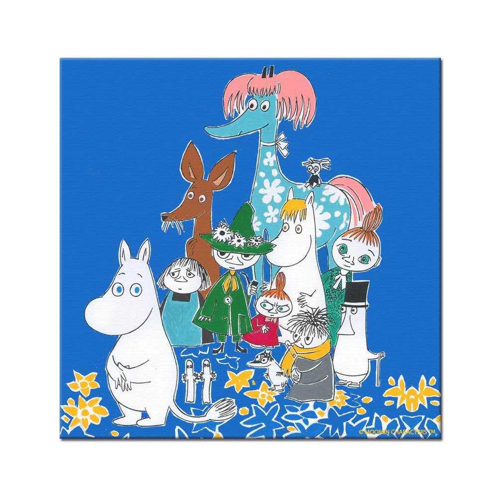 YOSHI850|Moomin嚕嚕米:無框畫【Moomin嚕嚕米家族大集合】80×80cm
