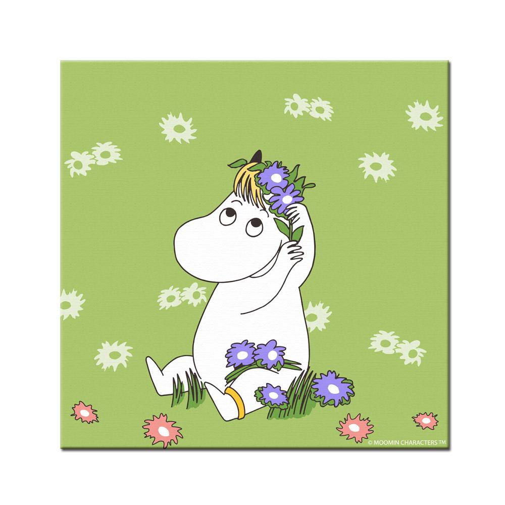 YOSHI850|Moomin嚕嚕米:無框畫【Moomin嚕嚕米,可兒】60×60cm/50×70cm
