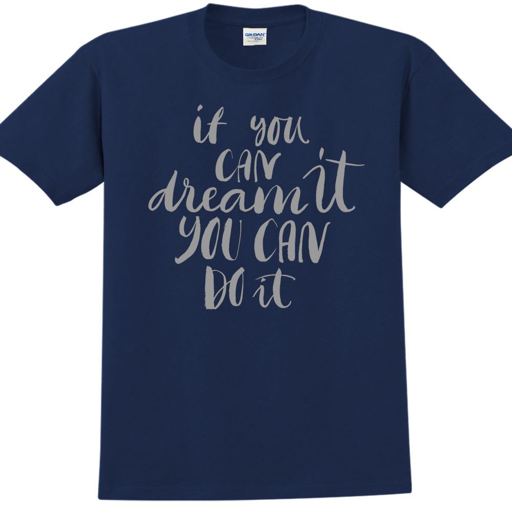 YOSHI850|新創設計師850 Collections【You can do it】短袖成人T-shirt (藏青)