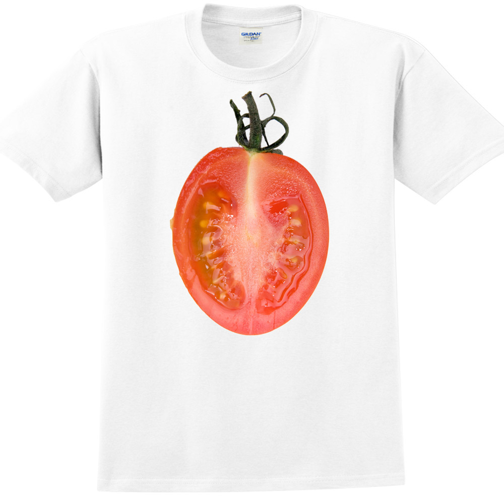 YOSHI850|新創設計師850 Collections【小番茄】短袖成人T-shirt (白)