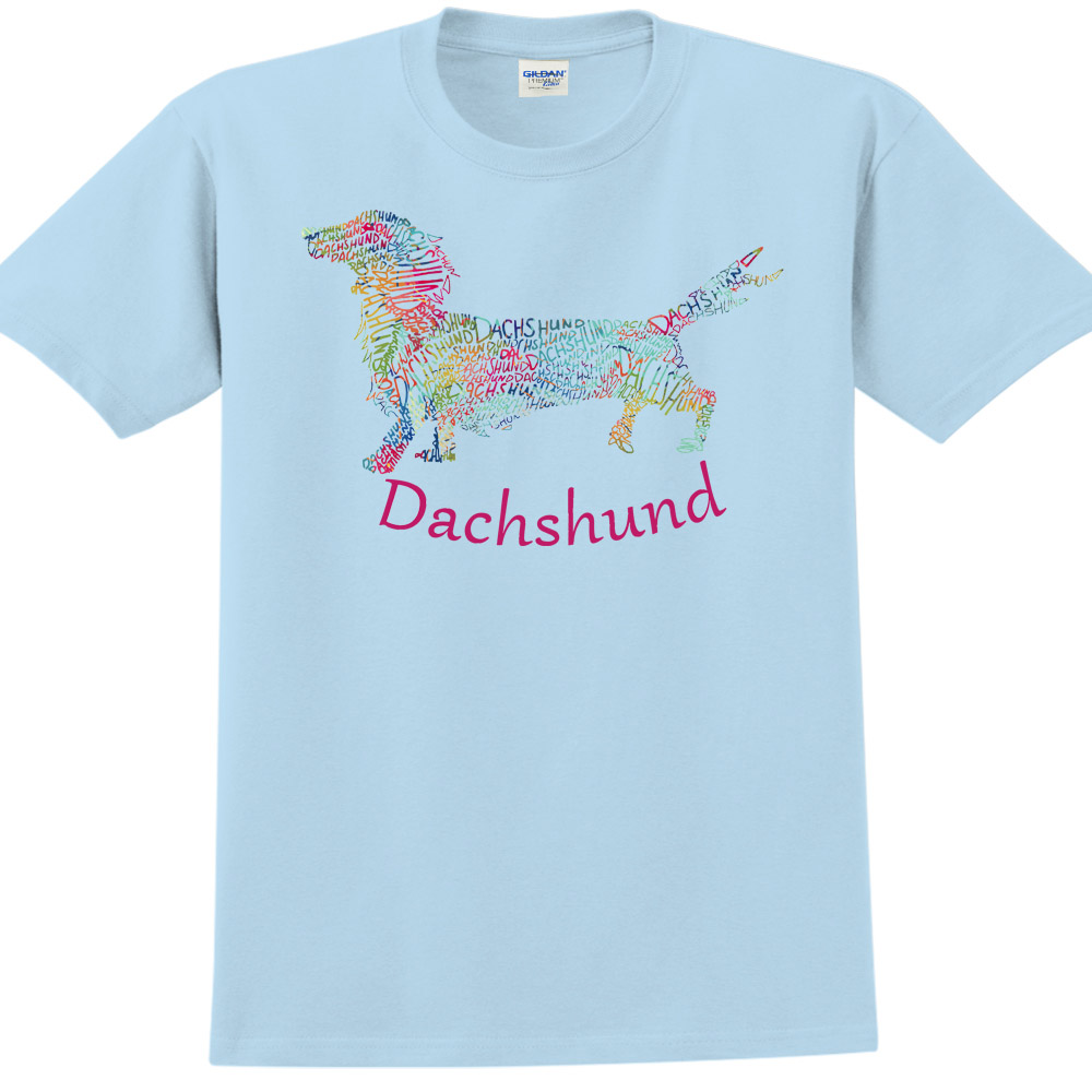 YOSHI850|新創設計師850 Collections【Dachshund】短袖成人T-shirt (水藍)