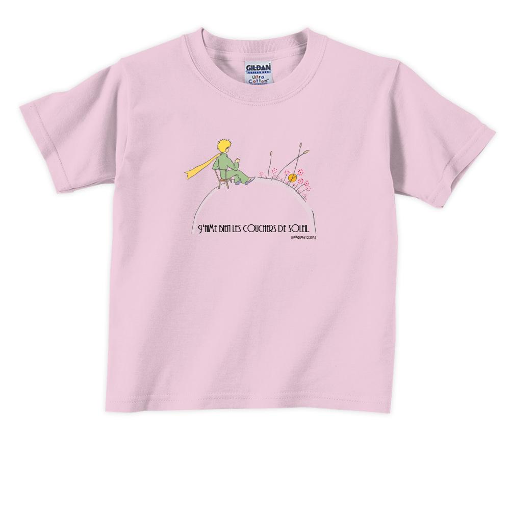 YOSHI850 小王子經典版授權【夕陽】短袖兒童T-shirt 《3色》
