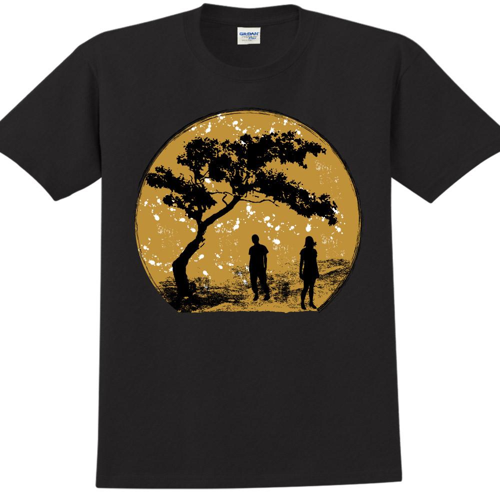 YOSHI850|新創設計師850 Collections【Moon】短袖成人T-shirt (黑)