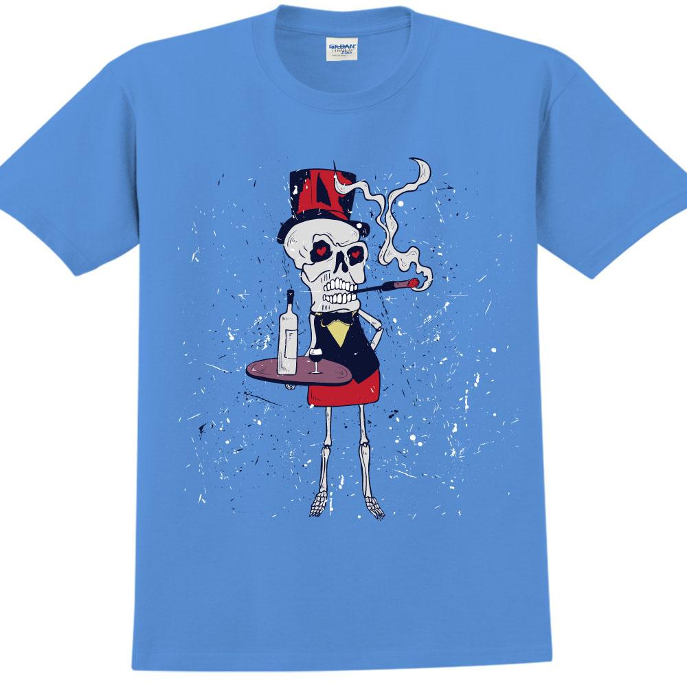 YOSHI850|新創設計師850 Collections【 May I help you】短袖成人T-shirt (寶石藍)