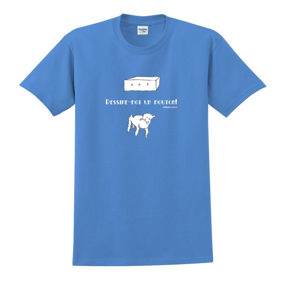 YOSHI850|小王子經典版授權【幫我畫隻羊】短袖中性T-shirt (寶石藍)