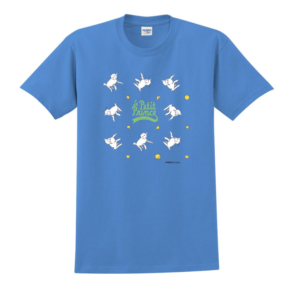 YOSHI850|小王子經典版授權【綿羊】短袖中性T-shirt (寶石藍)