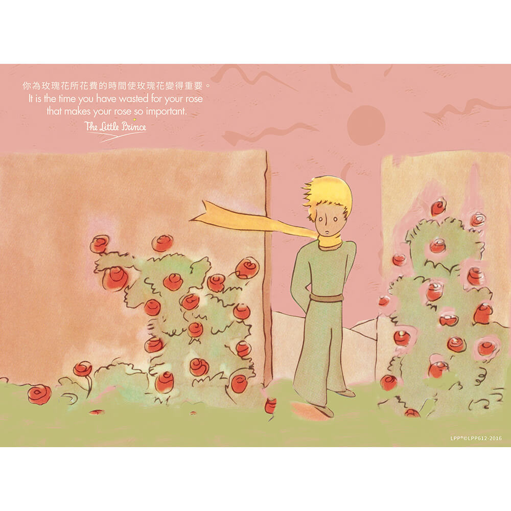 YOSHI850|小王子經典版授權:無框畫【玫瑰花園】30×40cm