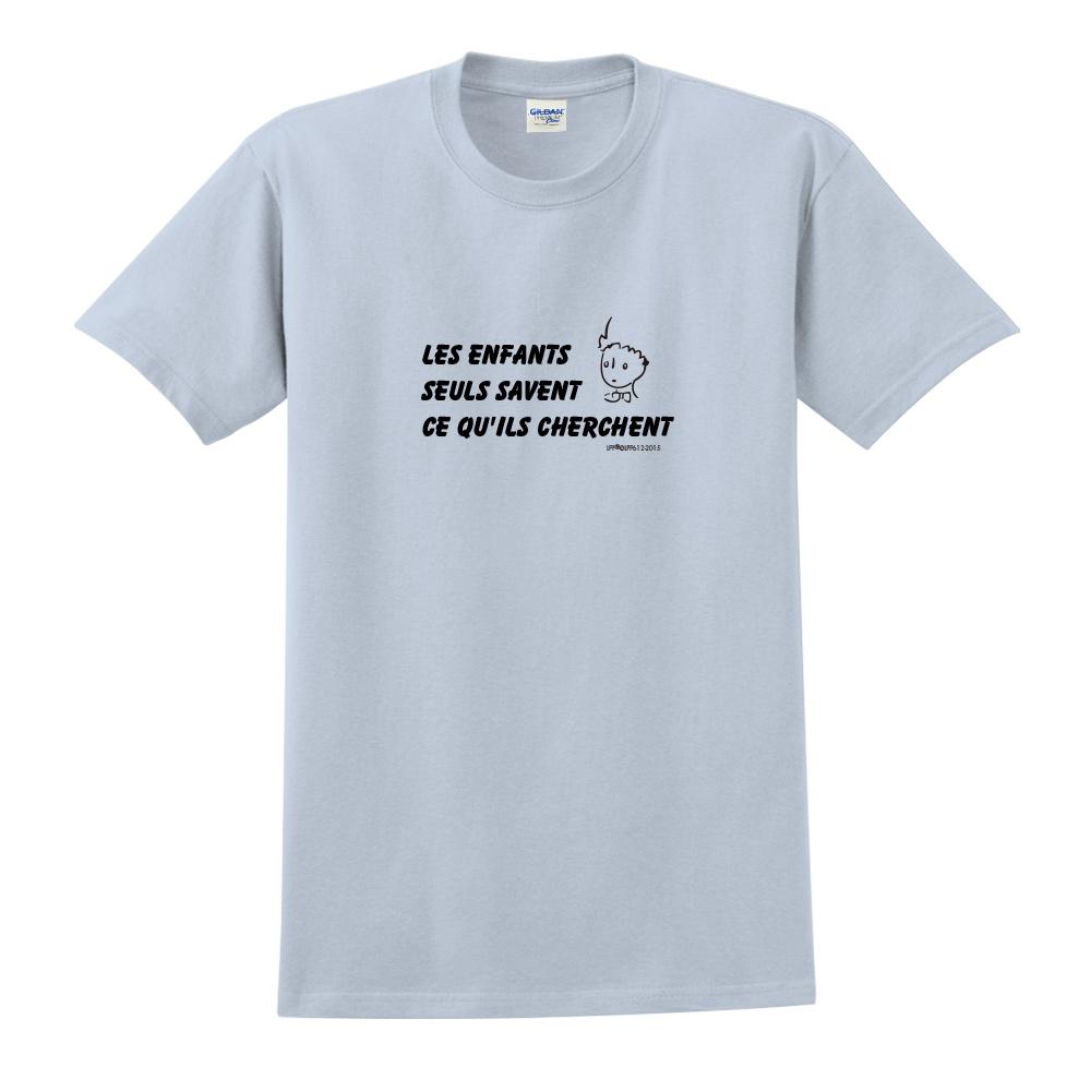 YOSHI850 小王子經典版授權【只有小孩子知道他們在找甚麼】短袖中性T-shirt (水藍)