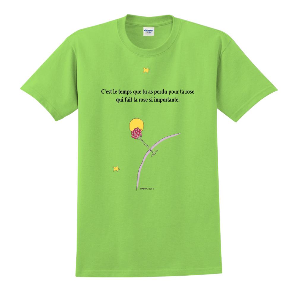 YOSHI850|小王子經典版授權【專屬愛情】短袖中性T-shirt (果綠)