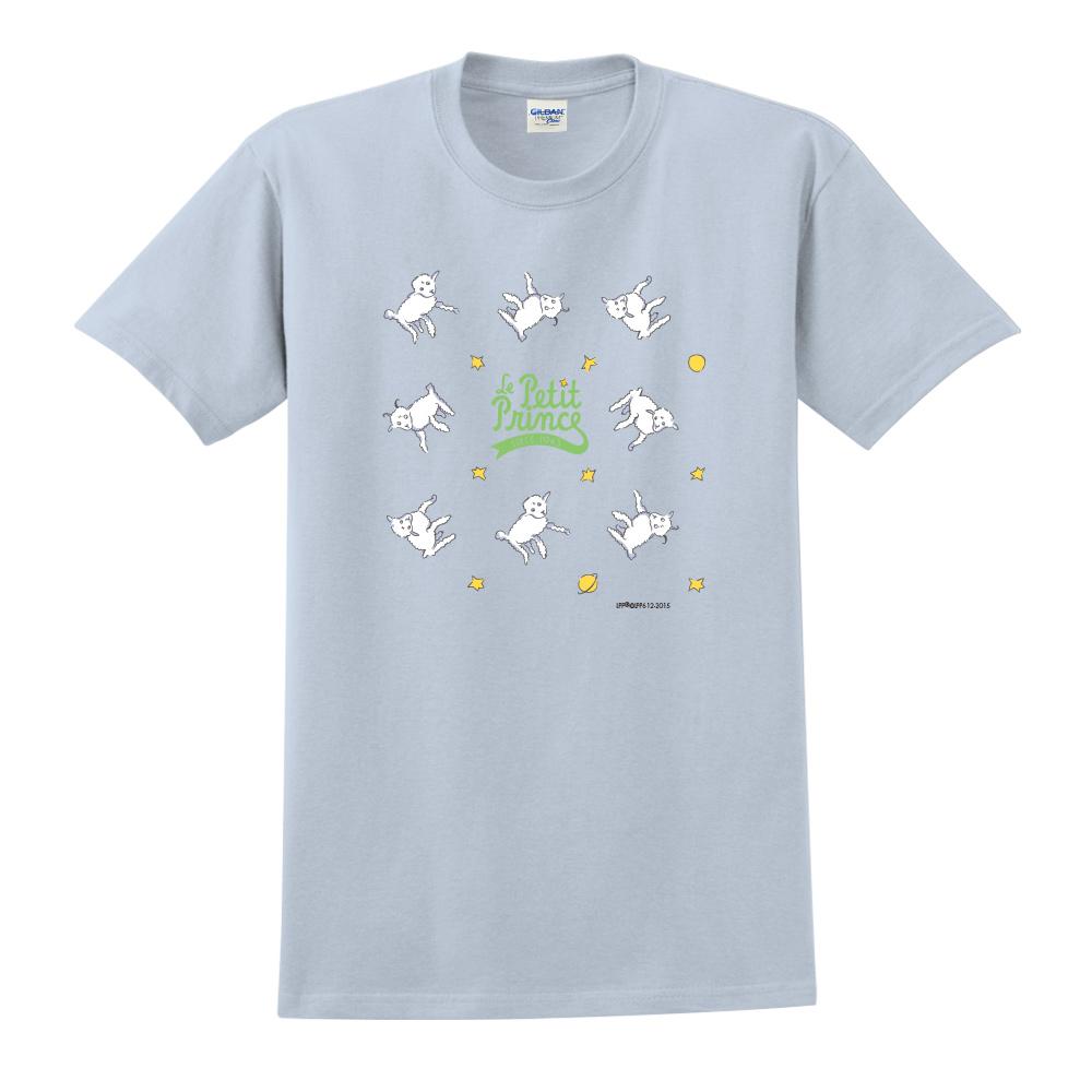 YOSHI850|小王子經典版授權【綿羊】短袖中性T-shirt (水藍)