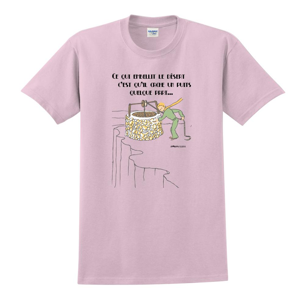 YOSHI850|小王子經典版授權【讓沙漠美麗的水井】短袖中性T-shirt (粉紅)