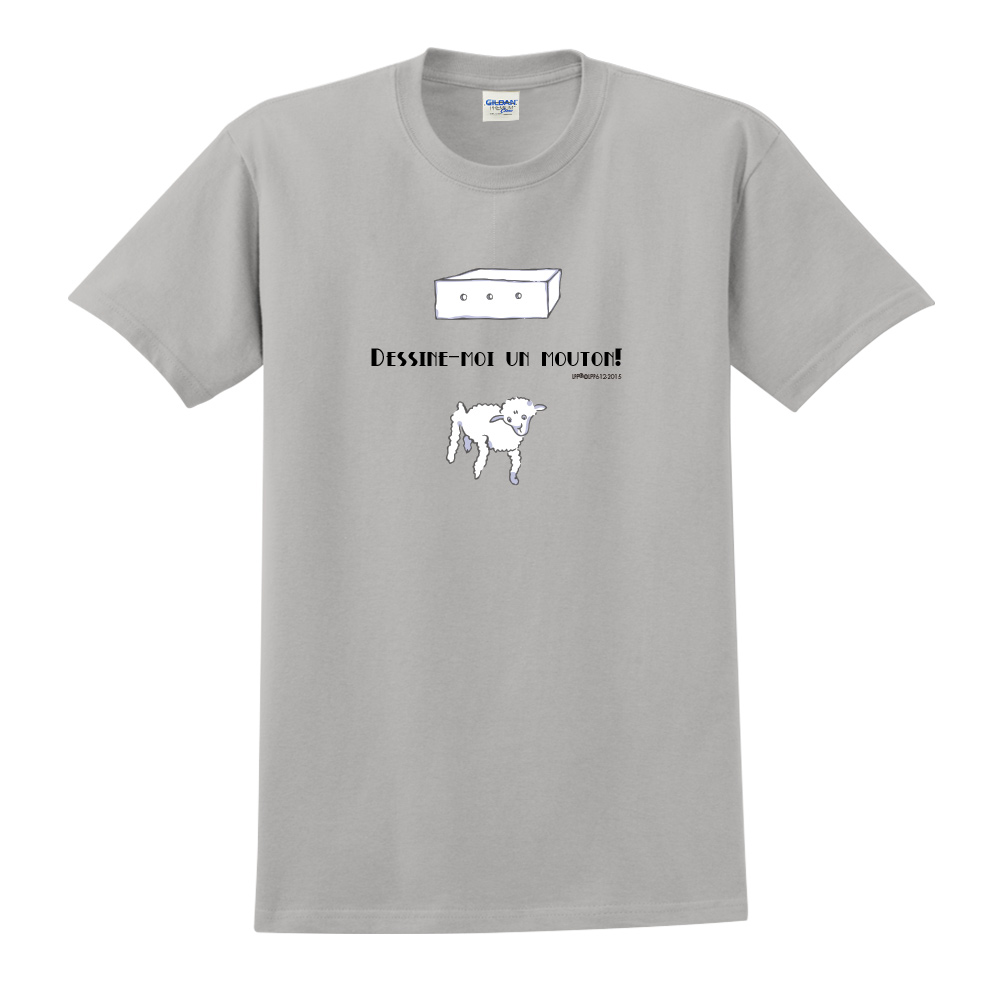 YOSHI850|小王子經典版授權【幫我畫隻羊】短袖中性T-shirt (麻灰)