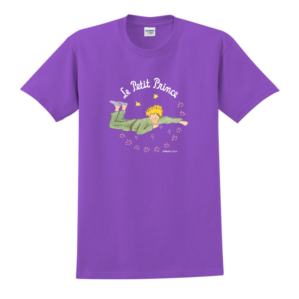 YOSHI850|小王子經典版授權【哭泣的小王子】短袖中性T-shirt (紫)