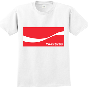YOSHI850|新創設計師850 Collections【不是可口】短袖成人T-shirt (白)