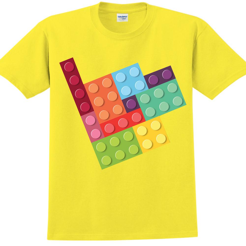 YOSHI850|新創設計師850 Collections【樂高拼圖】短袖成人T-shirt (黃)
