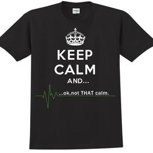 YOSHI850|新創設計師850 Collections【Keep Calm】短袖成人T-shirt (黑)