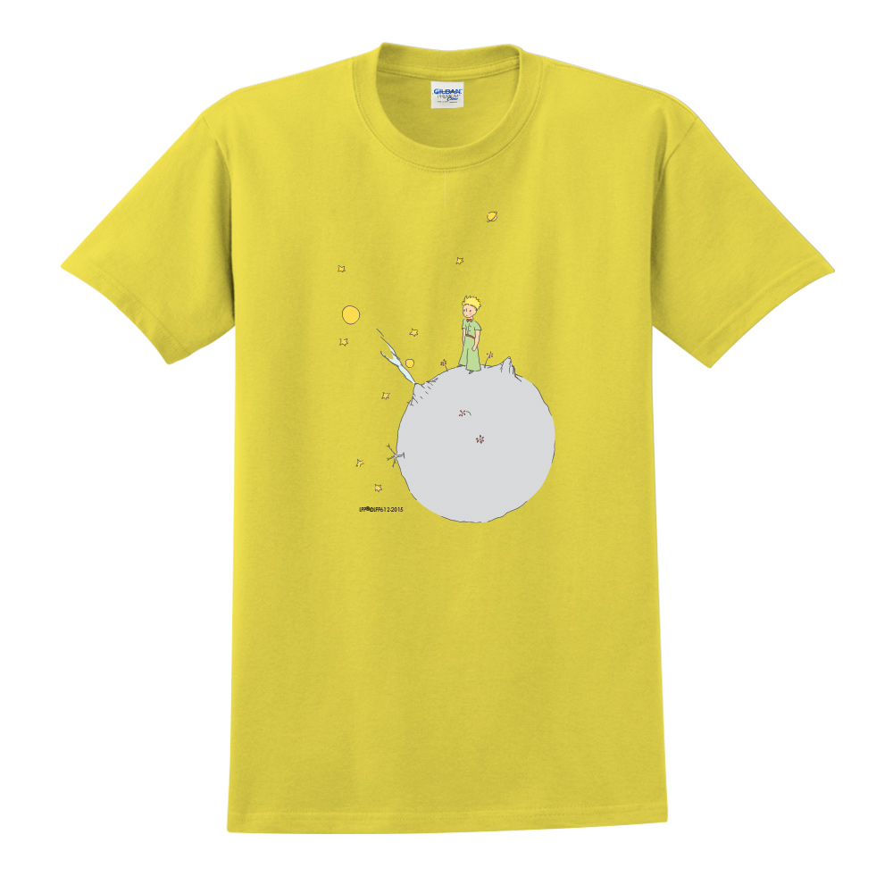 YOSHI850|小王子經典版授權【另一個星球】短袖中性T-shirt (黃)
