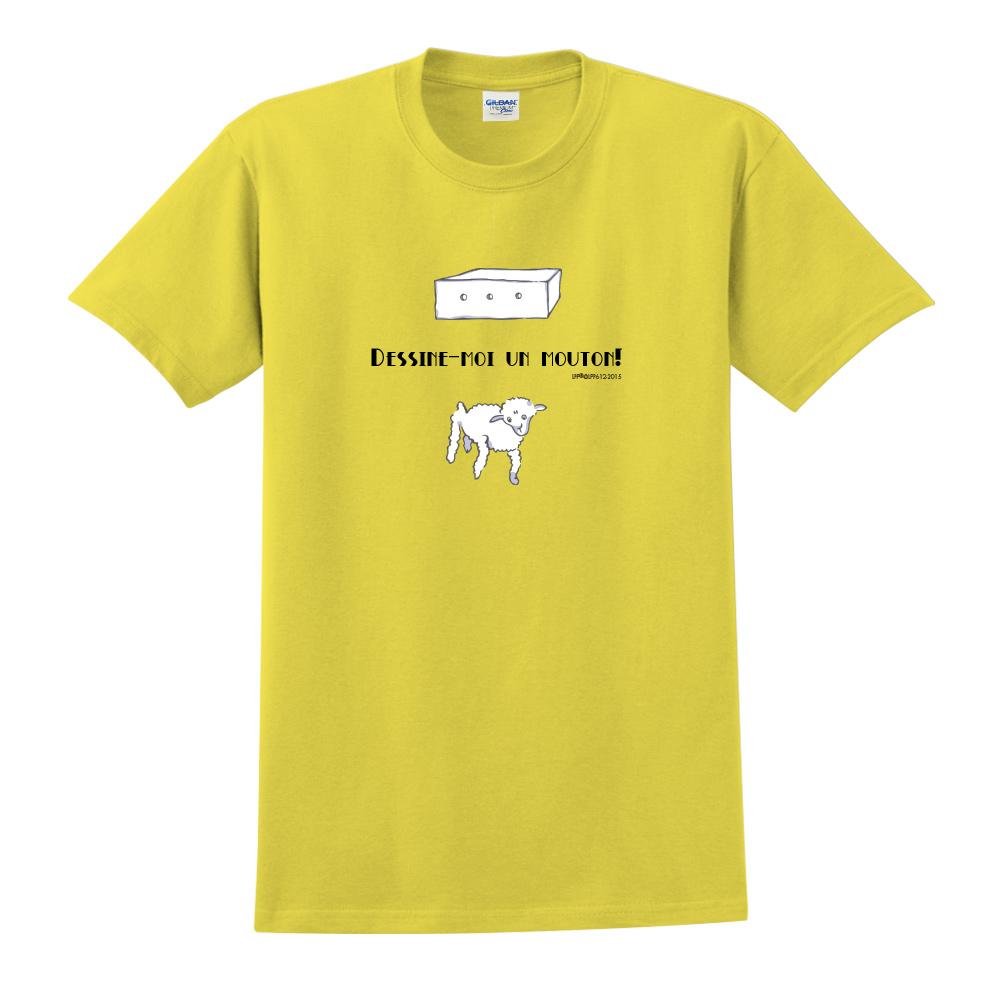 YOSHI850|小王子經典版授權【幫我畫隻羊】短袖中性T-shirt (黃)