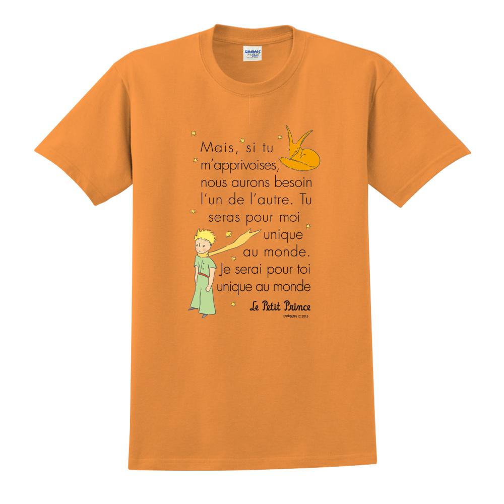 YOSHI850|小王子經典版授權【對我來說你是獨一無二】短袖中性T-shirt (橘)