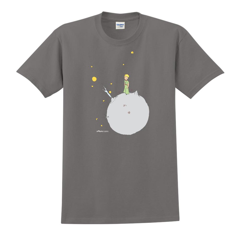 YOSHI850|小王子經典版授權【另一個星球】短袖中性T-shirt (深灰)