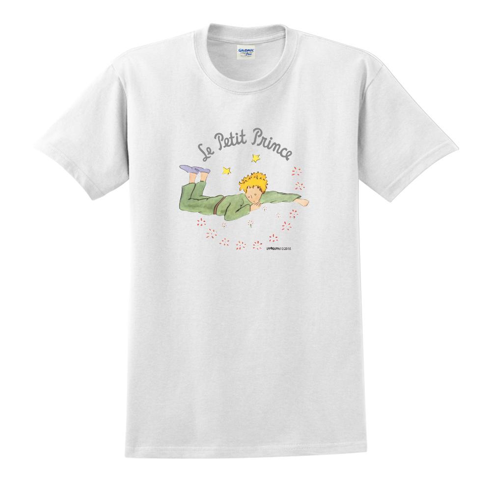 YOSHI850 小王子經典版授權【哭泣的小王子】短袖中性T-shirt (白)
