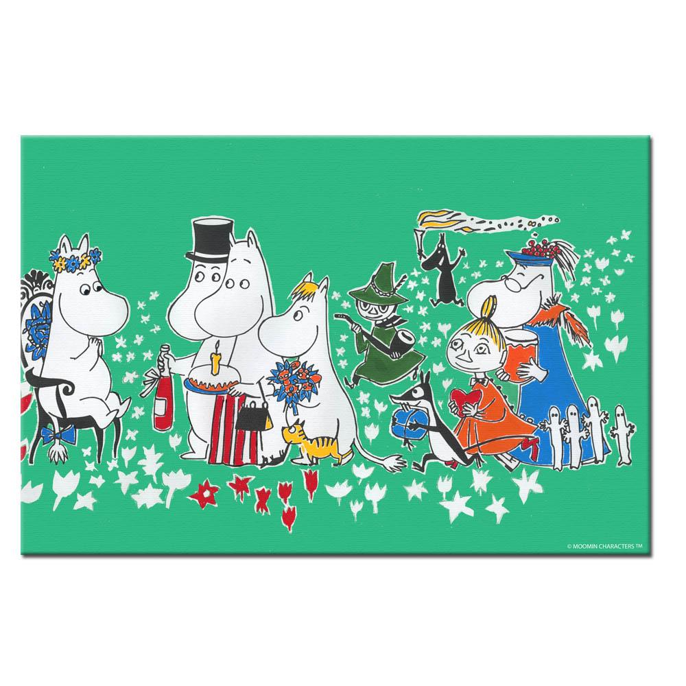 YOSHI850|Moomin嚕嚕米:無框畫【Moomin嚕嚕米家族大集合】50×50cm/40×60cm