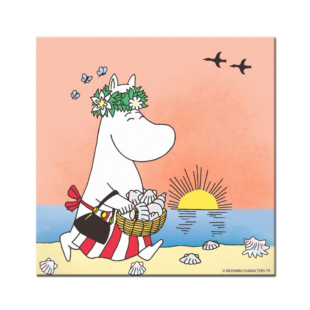 YOSHI850|Moomin嚕嚕米:無框畫【Moomin嚕嚕米,可兒】50×50cm/40×60cm