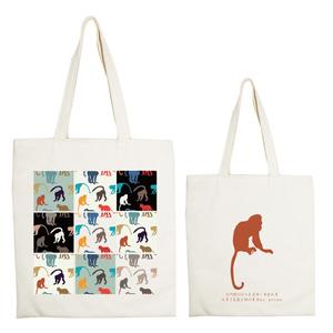 YOSHI850|新創設計師系列:手提購物包【好猴潑】米白/麻黃