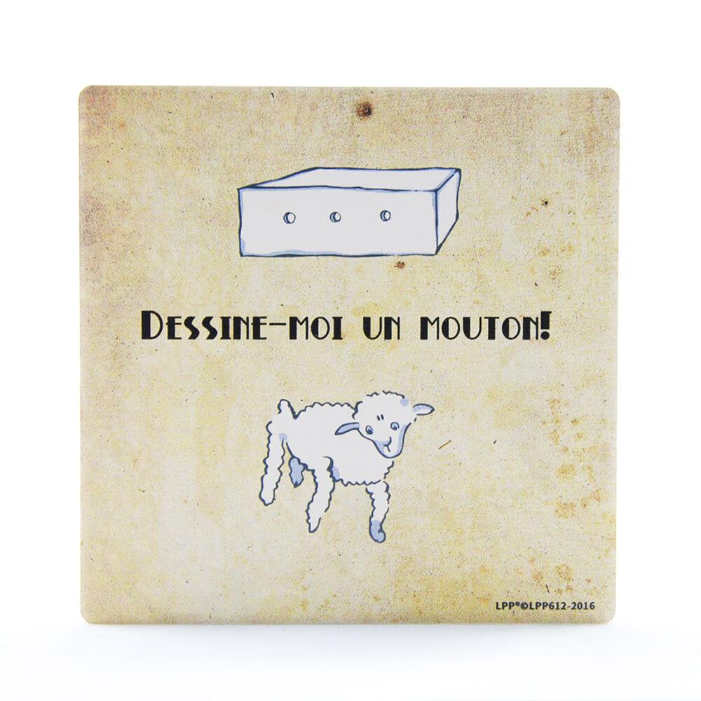 YOSHI850|經典小王子正版授權:吸水杯墊【幫我畫隻羊】(方.圓)