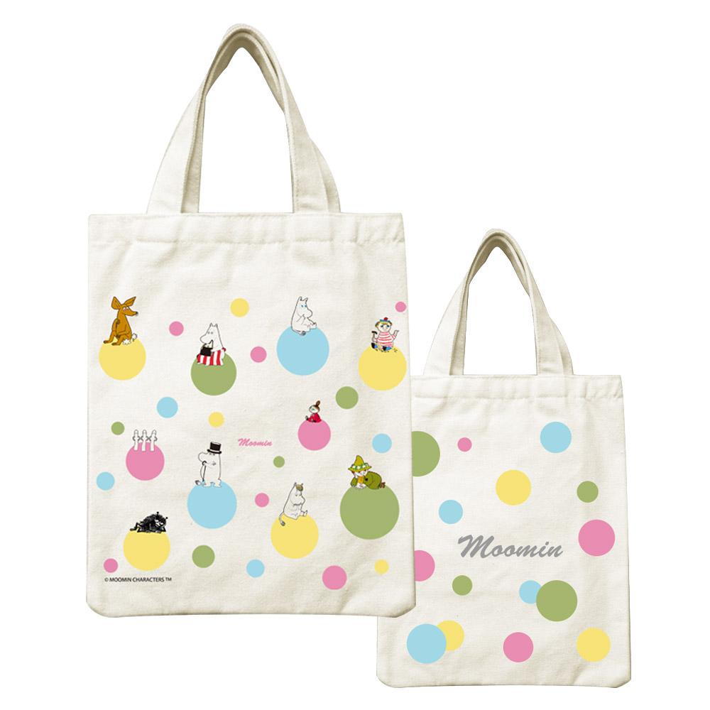 YOSHI850|Moomin嚕嚕米正版授權:小帆布包【彩虹泡泡】