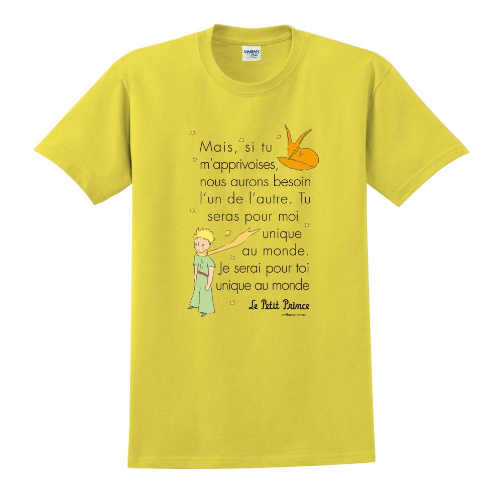 YOSHI850|小王子經典版授權【對我來說你是獨一無二】短袖中性T-shirt (黃)