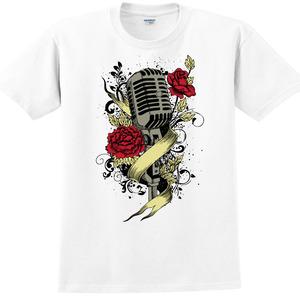 YOSHI850|新創設計師850 Collections【Rose mic】短袖成人T-shirt (白)